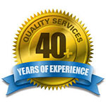 40 years of experience logo